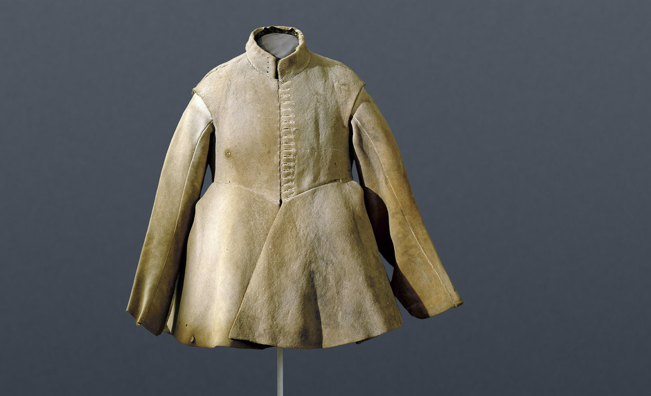 Coat made from moose leather from Gustav II. Adolf, first half of the 17th century
