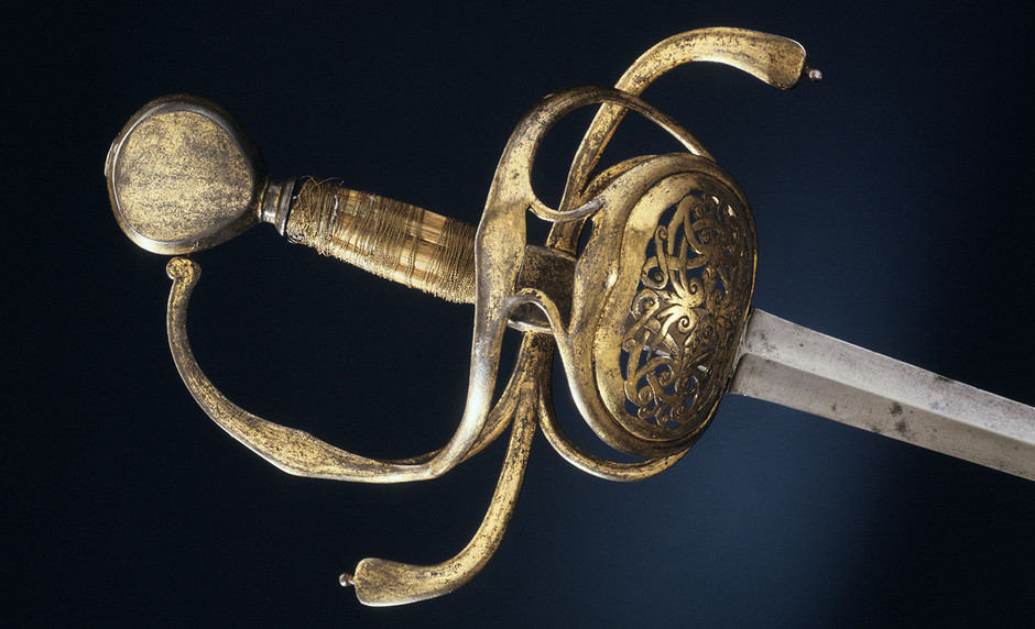 Rapier of Gustav Adolf, detail of the decorative handle